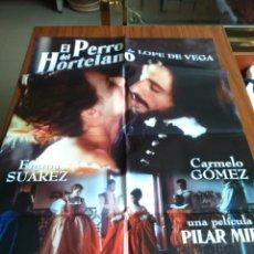 Cine: POSTER -- EL PERRO DEL HORTELANO-- POSTER GRANDE + 4 MEDIANOS + 4 FOTOGRAMAS -- ORIGINALES . Lote 151982342