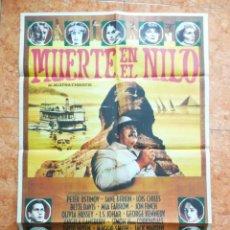 Cine: CARTEL DE CINE MUERTE EN EL NILO ORIGINAL DEL AÑO 1978 AGATHA CHRISTIE BETE DAVIS. Lote 151996986