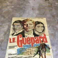 Cine: CARTEL ORIGINAL DE GRAN FORMATO, DE LA PELÍCULA EL GATOPARDO, EN FRANCES. LE GUEPARD. Lote 152036870