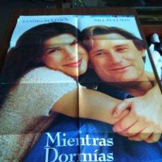 Cine: POSTER -- MIENTRAS DORMIAS -- POSTER GRANDE -- ORIGINALES DE CINE -- . Lote 152155130
