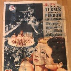 Cine: CARTEL O POSTER EL HIJO PRÓDIGO.LANA TURNER 1958. Lote 152165056