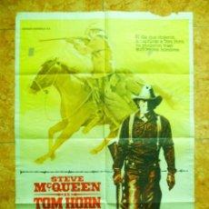 Cine: CARTEL DE CINE PELICULA TOM HORN ORIGINAL DEL AÑO 1980 STEVE MCQUEEN. Lote 152170682