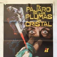Cine: EL PAJARO DE LAS PLUMAS DE CRISTAL - POSTER CARTEL ORIGINAL DARIO ARGENTO TONY MUSANTE SUZY KENDALL. Lote 152197394