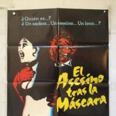 Cine: EL ASESINO TRAS LA MASCARA - POSTER CARTEL ORIGINAL SAVAGE WEEKEND DAVID PAULSEN CHRISTOPHER ALLPORT. Lote 152197858