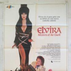 Cine: ELVIRA MISTRESS OF THE DARK - POSTER CARTEL ORIGINAL - CASSANDRA PETERSON JAMES SIGNORELLI. Lote 152259930