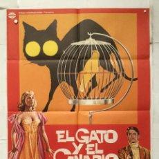 Cine: EL GATO Y EL CANARIO - POSTER CARTEL ORIGINAL - THE CAT AND THE CANARY HONOR BLACKMAN MAC . Lote 152265362