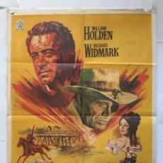 Cine: ALVAREZ KELLY - POSTER CARTEL ORIGINAL - WILLIAM HOLDEN RICHARD WIDMARK EDWARD DMYTRYK JANO. Lote 152284034
