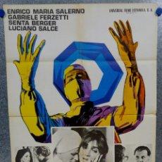 Cine: ASESINATO EN EL QUIRÓFANO. GABRIELE FERZETTI, SENTA BERGER. AÑO 1973. POSTER ORIGINAL. Lote 152299654