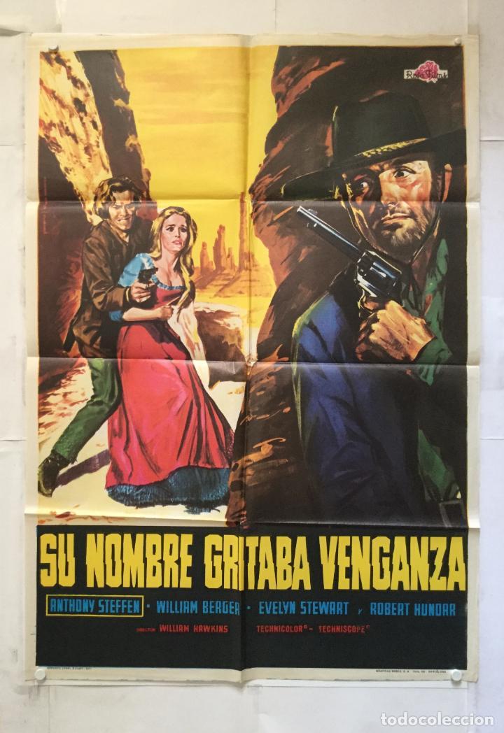SU NOMBRE GRITABA VENGANZA - POSTER CARTEL CINE ORIGINAL - ANTHONY STEFFEN WILLIAM BERGER (Cine - Posters y Carteles - Westerns)