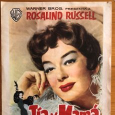 Cine: CINE- TIA Y MAMA- ROSALIND RUSSELL- WARNER BROS 1.959. Lote 152437902