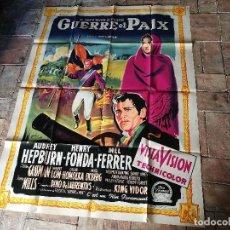 Cine: CARTEL POSTER DIFICIL Y RARO ESTRENO GUERRA Y PAZ GUERRE ET PAIX, FRANCIA GRAN TAMAÑO-ORIGINAL 1956. Lote 152460842