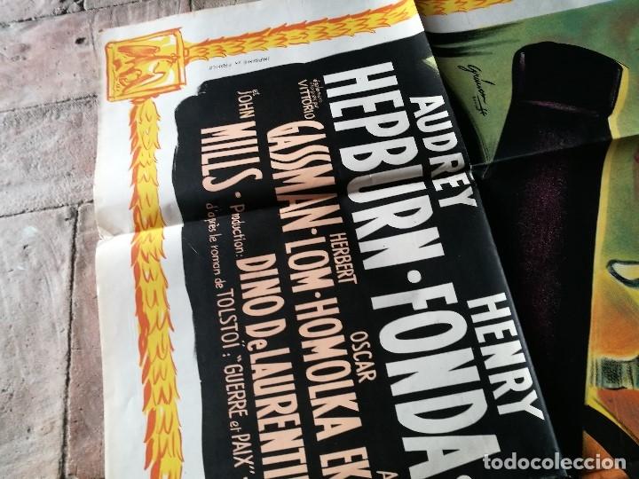 Cine: cartel poster dificil y raro estreno GUERRA Y PAZ guerre et paix, FRANCIA GRAN TAMAÑO-ORIGINAL 1956 - Foto 9 - 152460842