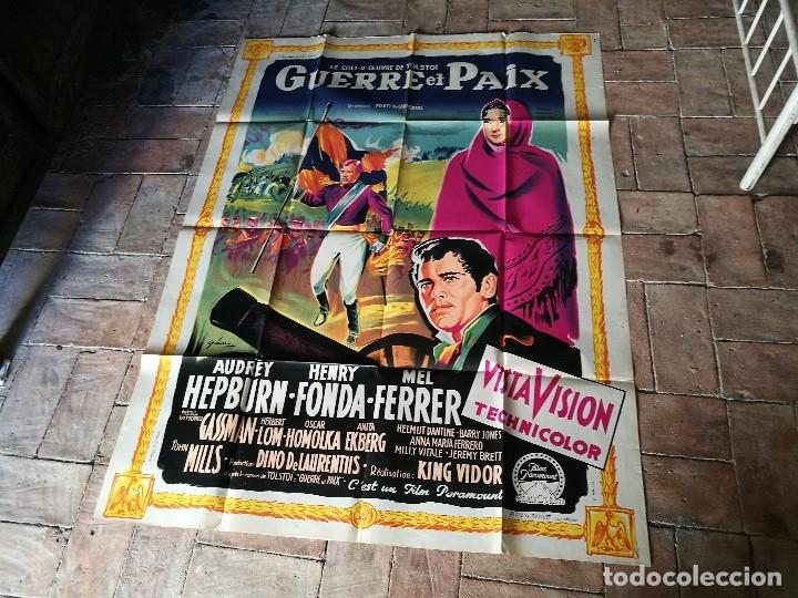 Cine: cartel poster dificil y raro estreno GUERRA Y PAZ guerre et paix, FRANCIA GRAN TAMAÑO-ORIGINAL 1956 - Foto 17 - 152460842