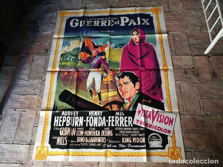 Cine: cartel poster dificil y raro estreno GUERRA Y PAZ guerre et paix, FRANCIA GRAN TAMAÑO-ORIGINAL 1956 - Foto 19 - 152460842