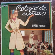 Cine: CARTEL DE CINE. COLEGIO DE NIÑAS. 1979. JANO. DIANE KURYS. Lote 152529005