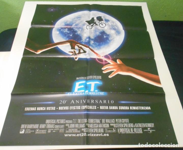 ET CARTEL POSTER CINE ORIGINAL ET 20 ANIVERSARIO (Cine - Posters y Carteles - Acción)