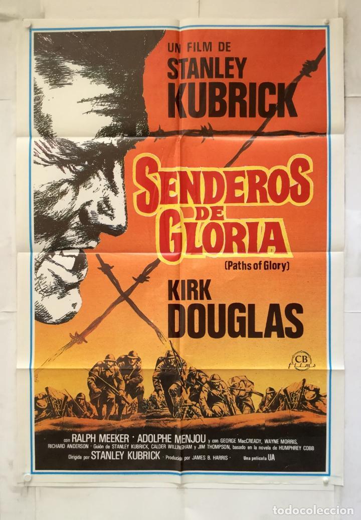 SENDEROS DE GLORIA - POSTER CARTEL ORIGINAL - PATHS OF GLORY KIRK DOUGLAS STANLEY KUBRICK (Cine - Posters y Carteles - Bélicas)