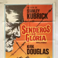 Cinema: SENDEROS DE GLORIA - POSTER CARTEL ORIGINAL - PATHS OF GLORY KIRK DOUGLAS STANLEY KUBRICK. Lote 182155020