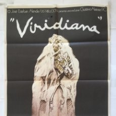 Cine: VIRIDIANA - CARTEL POSTER ORIGINAL CINE - FERNANDO REY FRANCISCO RABAL LUIS BUÑUEL IVAN ZULUETA. Lote 153115022