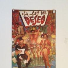 Cine: LA LEY DEL DESEO - POSTER CARTEL ORIGINAL - EUSEBIO PONCELA ANTONI BANDERAS CARMEN MAURA ALMODOVAR. Lote 153186726
