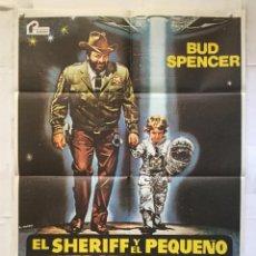 Cine: EL SHERIFF Y EL PEQUEÑO EXTRATERRESTRE - POSTER CARTEL CINE - BUD SPENCER MICHELE LUPO RENATO CASARO. Lote 153219158