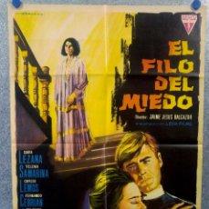 Cine: EL FILO DEL MIEDO. SARA LEZANA, YELENA SAMARINA, CARLOS LEMOS AÑO 1965. POSTER ORIGINAL. Lote 153432082