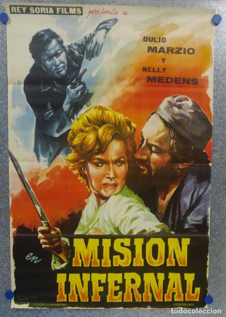MISION INFERNAL. DULIO MARZIO, NELLY MEDENS . AÑO 1962. POSTER ORIGINAL (Cine - Posters y Carteles - Suspense)