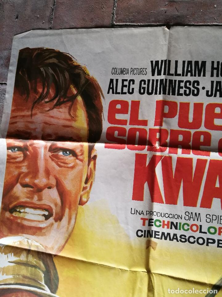 Cine: EL PUENTE SOBRE EL RIO KWAI - DAVID LEAN - ALEC GUINNESS - WILLIAM HOLDEN - POSTER ORIGINAL 70X100 - Foto 2 - 153572314