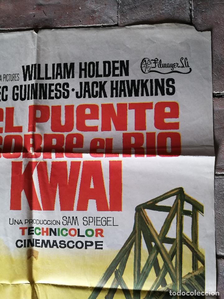 Cine: EL PUENTE SOBRE EL RIO KWAI - DAVID LEAN - ALEC GUINNESS - WILLIAM HOLDEN - POSTER ORIGINAL 70X100 - Foto 3 - 153572314