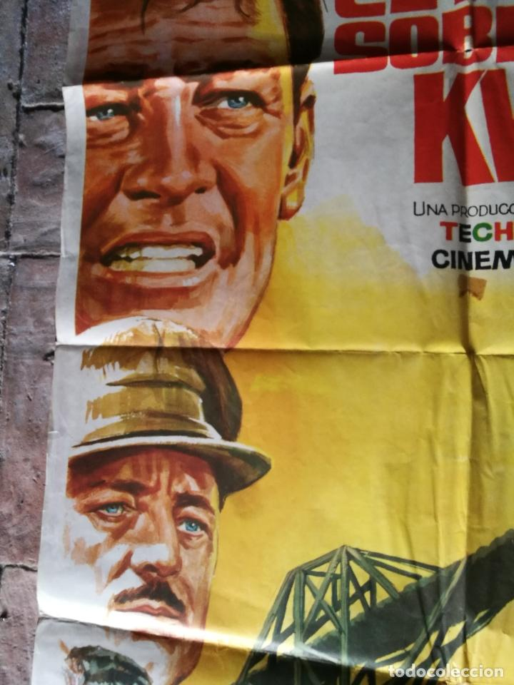 Cine: EL PUENTE SOBRE EL RIO KWAI - DAVID LEAN - ALEC GUINNESS - WILLIAM HOLDEN - POSTER ORIGINAL 70X100 - Foto 5 - 153572314