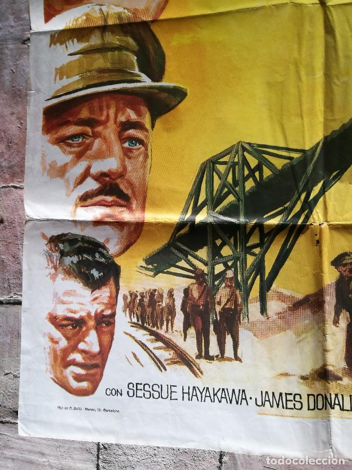 Cine: EL PUENTE SOBRE EL RIO KWAI - DAVID LEAN - ALEC GUINNESS - WILLIAM HOLDEN - POSTER ORIGINAL 70X100 - Foto 6 - 153572314