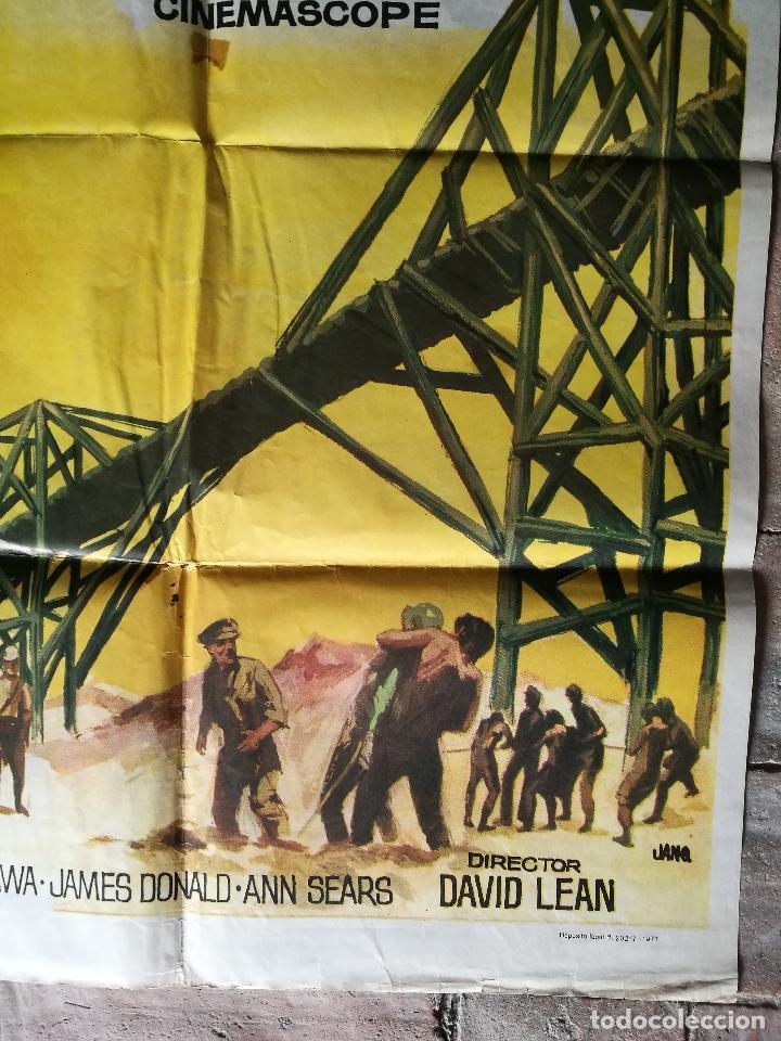 Cine: EL PUENTE SOBRE EL RIO KWAI - DAVID LEAN - ALEC GUINNESS - WILLIAM HOLDEN - POSTER ORIGINAL 70X100 - Foto 7 - 153572314