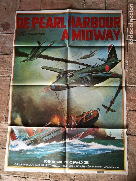 Cine: DE PEARL HARBOUR A MIDWAY - POSTER ORIGINAL 70X100 - Foto 6 - 153572518