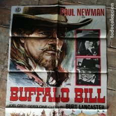 Cine: BUFFALO BILL -PAUL NEWMAN - POSTER ORIGINAL 70X100. Lote 153575854