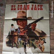 Cine: EL GRAN JACK JOHN WAYNE POSTER ORIGINAL 70X100- . Lote 153579786