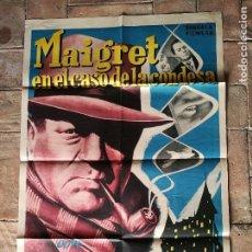 Cine: MAIGRET EN EL CASO DE LA CONDESA-- POSTER ORIGINAL 70X100- . Lote 153580314