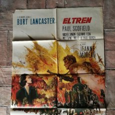 Cinema: EL TREN BURT LANCASTER JEANNE MOREAU- POSTER ORIGINAL 70X100-. Lote 153581558