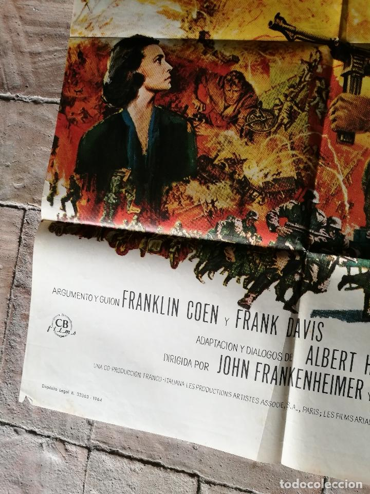 Cine: EL TREN BURT LANCASTER JEANNE MOREAU- POSTER ORIGINAL 70X100- - Foto 4 - 153581558