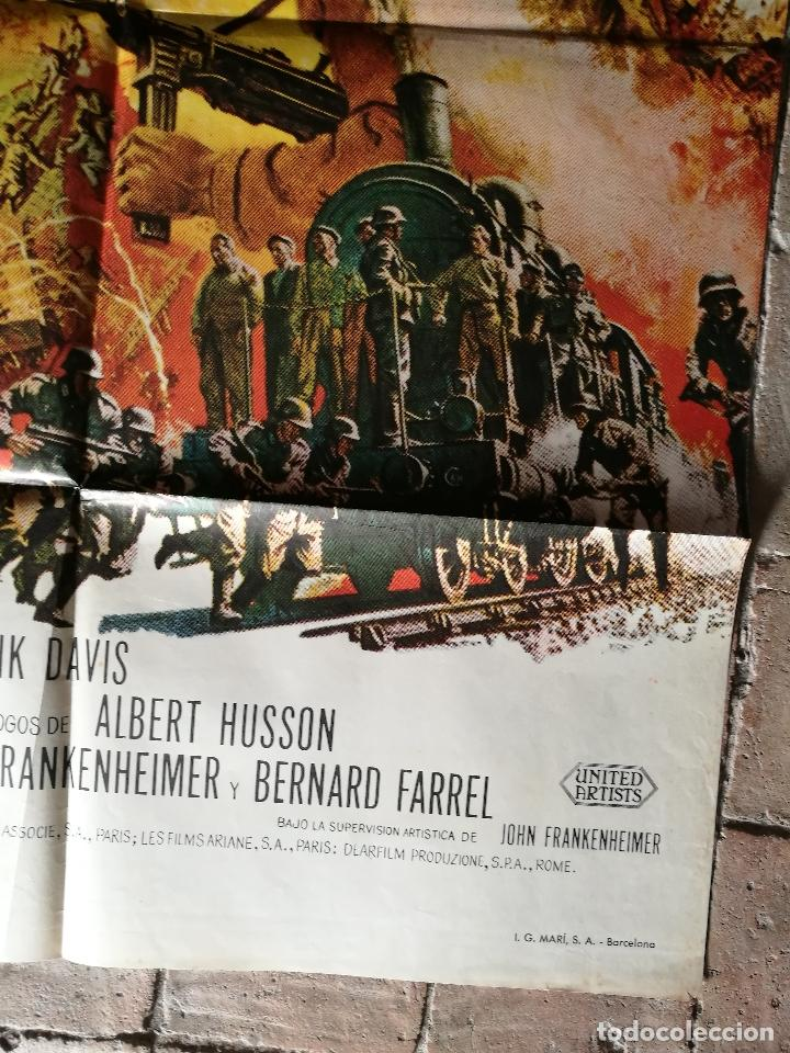 Cine: EL TREN BURT LANCASTER JEANNE MOREAU- POSTER ORIGINAL 70X100- - Foto 5 - 153581558