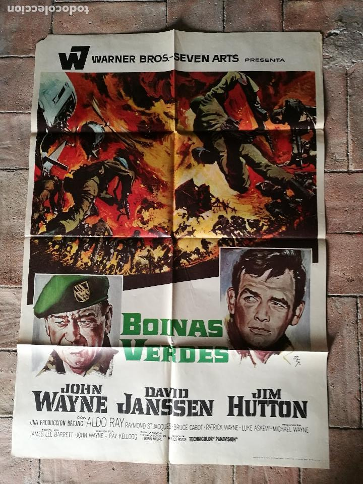 BOINAS VERDES- POSTER ORIGINAL 70X100- (Cine - Posters y Carteles - Bélicas)