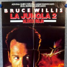 Cine: LA JUNGLA 2: ALERTA ROJA . BRUCE WILLIS, SAMUEL L. JACKSON AÑO 1990. POSTER ORIGINAL . Lote 153685634