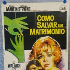 Cine: CÓMO SALVAR UN MATRIMONIO. DEAN MARTIN, STELLA STEVENS, ELI WALLACH. AÑO 1969. POSTER ORIGINAL . Lote 153687382