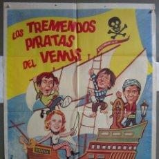 Cine: ZJ87 LOS TREMENDOS PIRATAS DEL VENUS CARRY ON SERIES POSTER ORIGINAL ESTRENO 70X100. Lote 153699938
