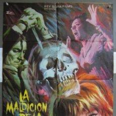 Cine: ZJ85 LA MALDICION DE LA CALAVERA PETER CUSHING CHRISTOPHER LEE POSTER ORIGINAL 70X100 ESTRENO. Lote 153700558