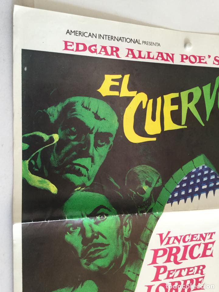 Cine: El cuervo - edgar allan poe roger corman - coleccion 5 fotocromos y poster vincent price - Foto 2 - 153701726