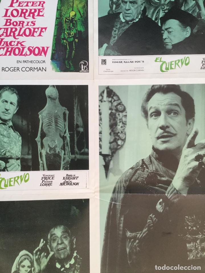 Cine: El cuervo - edgar allan poe roger corman - coleccion 5 fotocromos y poster vincent price - Foto 3 - 153701726