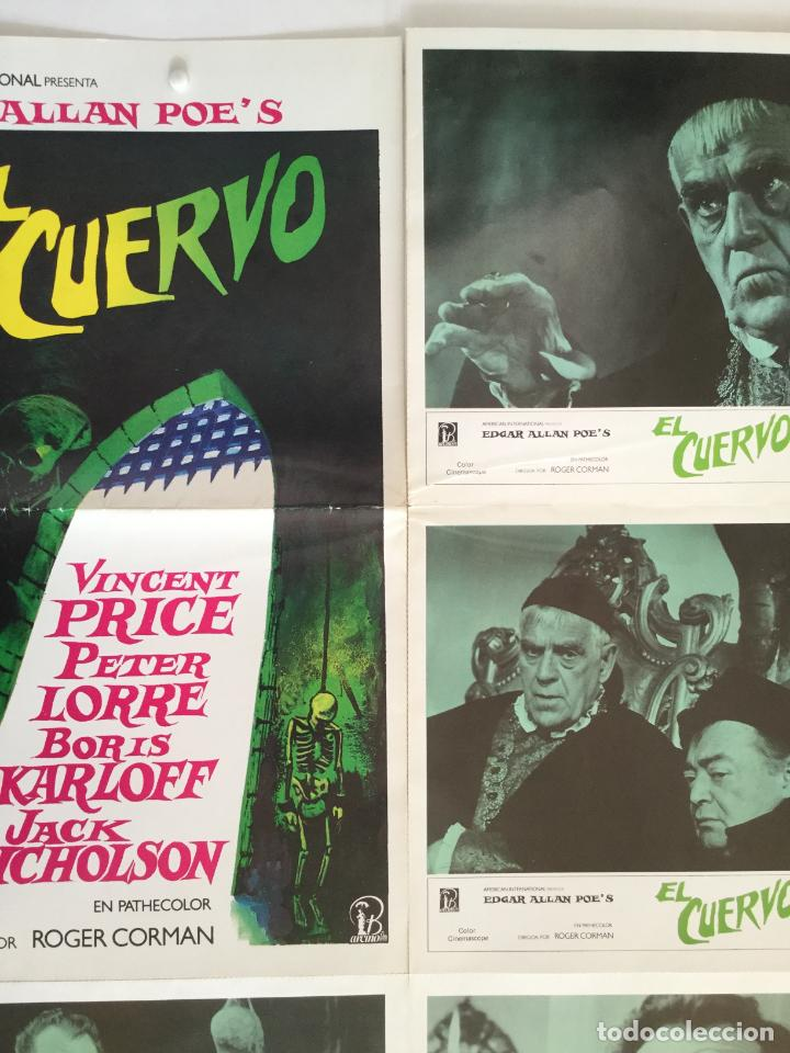 Cine: El cuervo - edgar allan poe roger corman - coleccion 5 fotocromos y poster vincent price - Foto 4 - 153701726