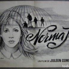 Cine: ZG88 NORMA JEAN JULEEN COMPTON SHARON HENESY MAQUETA DIBUJO CARTEL ORIGINAL MAC. Lote 153817774
