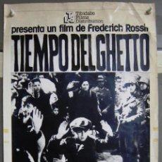 Cine: ZG96 TIEMPO DEL GHETTO FREDERIC ROSSIF MAQUETA FOTOMONTAJE CARTEL ORIGINAL. Lote 153838686