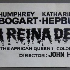 Cine: ZG99 LA REINA DE AFRICA HUMPHREY BOGART KATHARINE HEPBURN MAQUETA DIBUJO CARTEL ORIGINAL. Lote 153844202